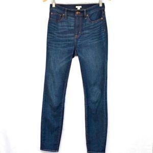 J.CREW High Rise Skinny Jean Perfect Blue Wash